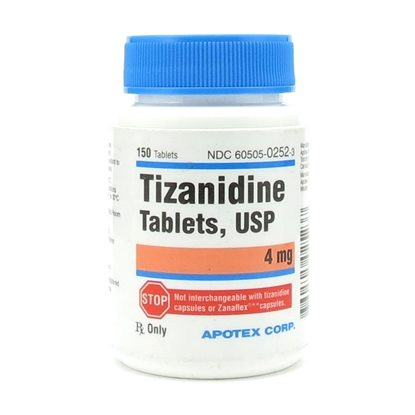 Tizanidine   4mg  Tablets   150/Bottle