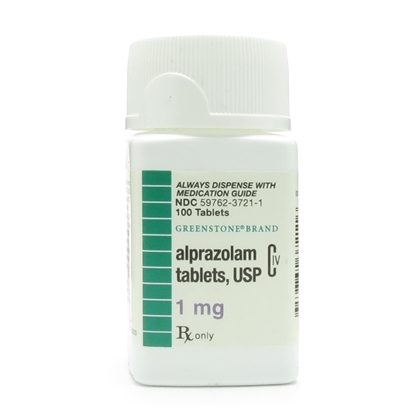 Alprazolam [C-IV], 1mg, 100 Tablets/Bottle