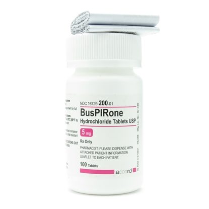 Buspirone, 5mg, 100 Tablets/Bottle
