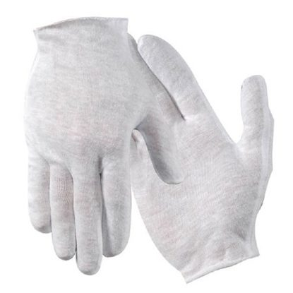 Glove Liner, Cotton, Women's Small-Med, White, 12/Box