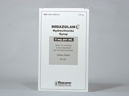 Midazolam [C-IV], 2mg/mL, Cherry-Flavored Syrup, 118mL Bottle