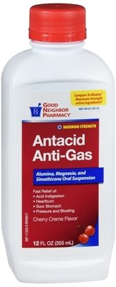 Antacid/Anti-Gas, Liquid, Cherry,  12oz./Bottle