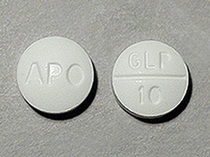 Glipizide, 10mg, 100 Tablets/Bottle