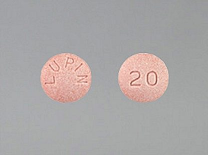 Lisinopril, 20mg, 100 Tablets/Bottle