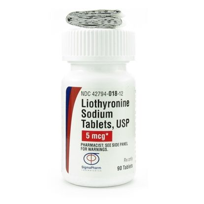 Liothyronine Sodium  5mcg  Tablets 90/Bottle (Generic for Cytomel)
