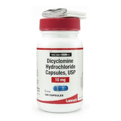 Dicyclomine HCl, 10mg, 100 Capsules/Bottle