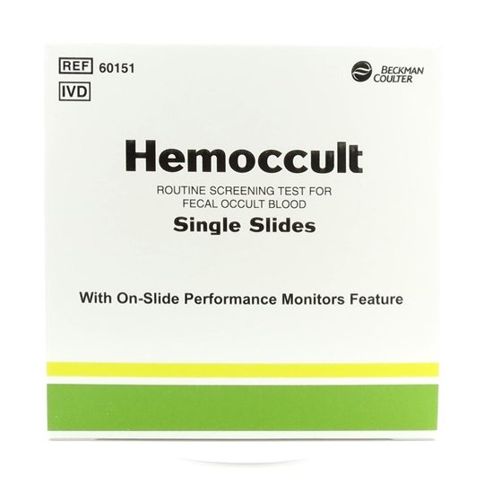 Hemoccult with 100 Single Slides 100 Applicators and Two 15mL Bottles of Hemoccult Developer Box