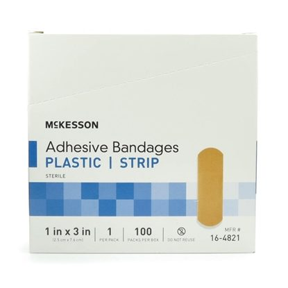 Bandage, Strip Sheer, 1'' x 3'', Sterile, ParaAid, 100/Box
