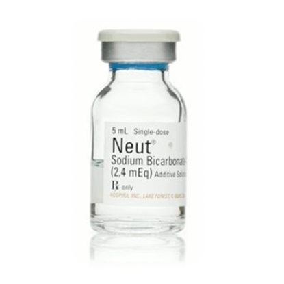 NEUT (Sodium Bicarbonate 4%), 2.4mEq/vial, SDV, 5mL Vial, Not Available