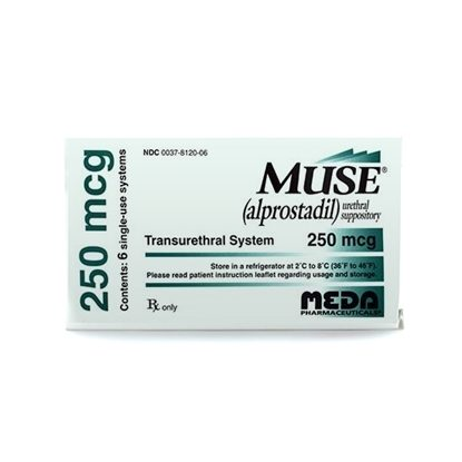 Muse® (Alprostadil), 250mcg, Suppositories, 6/Box
