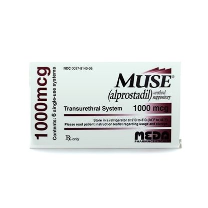 Muse® (Alprostadil),  1000mcg, Suppositories, 6/Box