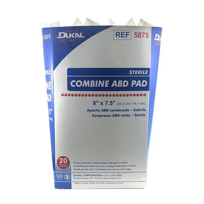 "Dressing, Combine Sterile Abdonminal Padding, 8 x 7 1/2"", 20/Tray"