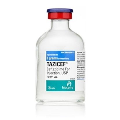 Tazicef Powder for Injection, 2Grams, SDV,  60mL, 10 Vials/Tray