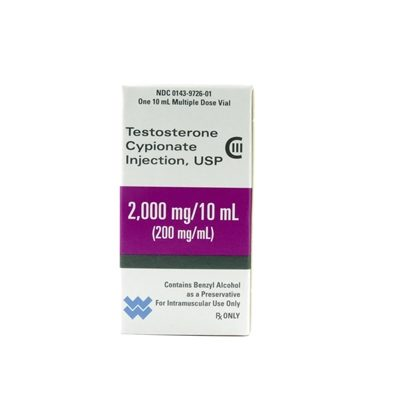 Testosterone Cypionate, [C-III] 200mg/mL, MDV, 10mL Vial