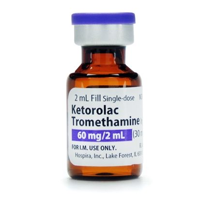 Ketorolac IM, 60mg/2mL, SDV, 2mL Vial